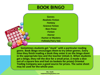 Activity: Book Bingo
