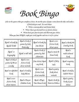 Book Bingo 2nd-4th Grades