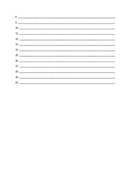 Book Bingo Back to School/September