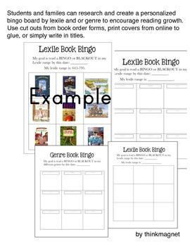 Book Bingo Boards for Lexile and Genre