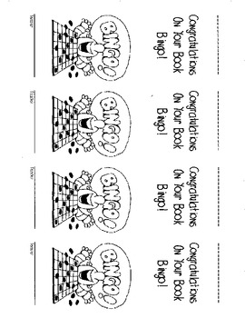 Book Bingo Bookmarks!