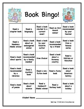 Book Bingo - Creative Ideas for Independent Reading