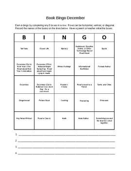 Book Bingo December