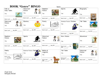 Book Bingo! - Genre Project
