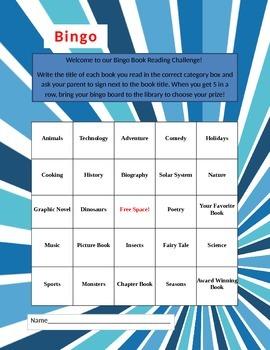 Book Bingo Reading Challenge