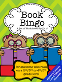 Book Bingo for 2nd, 3rd, 4th, and 5th Grade Readers Common Core Aligned