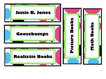 Book Bins- Bright Colors