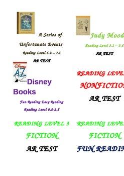 Book Bins Labels
