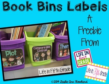 Book Bins Labels By Skill