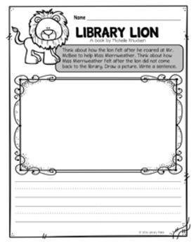 Book Bite {Library Lion}