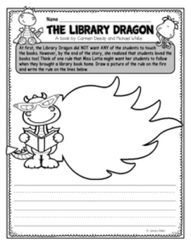 Book Bite {The Library Dragon} / Library Rules