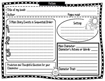 Book Blog Graphic Organizers and Templates