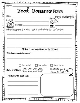 Book Bonanza Graphic Organizers