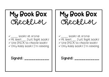 Independent Reading/Book Box Checklist