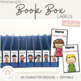 Book Box Labels {Editable Student Name Labels}