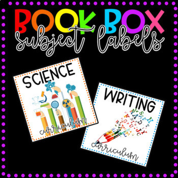 Book Box Labels Core Subjects