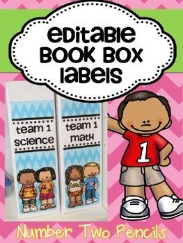 Book Box Labels {Editable}