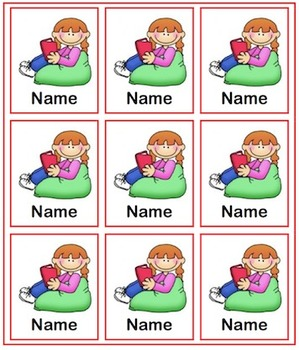 Book Box Labels - Freebie! - Just add your kiddos names and print!