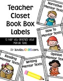 Book Box Labels - Teacher Mentor Texts