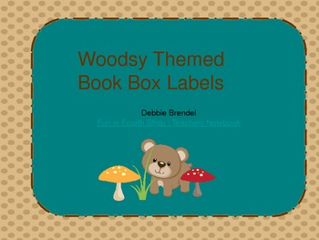 Book Box Labels Woodsy Theme