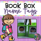 Book Box Name Tags Editable