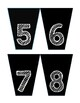 Book Box Number Labels- Black and White