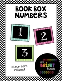 Book Box Numbers {Bright Colors}