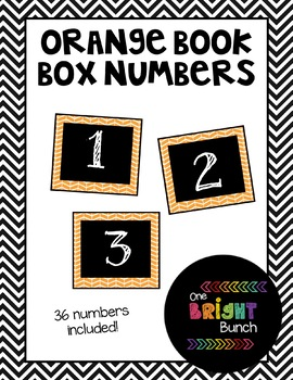 Book Box Numbers {Orange}