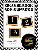 Book Box Numbers {Orange}