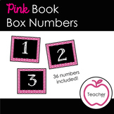Book Box Numbers {Pink}
