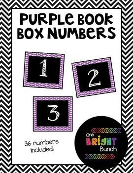 Book Box Numbers {Purple}
