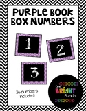Book Box Numbers {Purple}