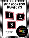 Book Box Numbers {Red}
