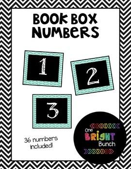 Book Box Numbers {Teal}