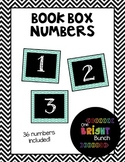 Book Box Numbers {Teal}
