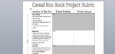 Book Box Rubric (book report/book project)