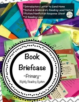 Book Briefcase-Take Home Book Activity