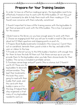 Book Buddies Reading Program Materials, editable