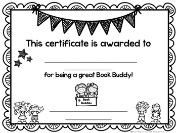 Book Buddies Reading Program Materials, editable