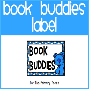 Book Buddy Label