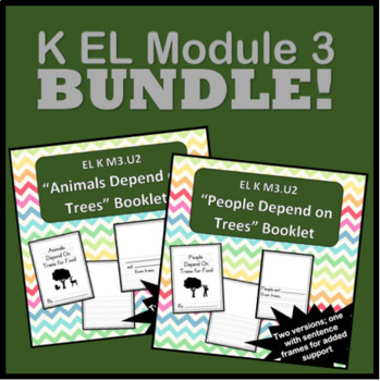 "Book Bundle for ""People/Animals Depend on Trees"" - EL K M3.U2"