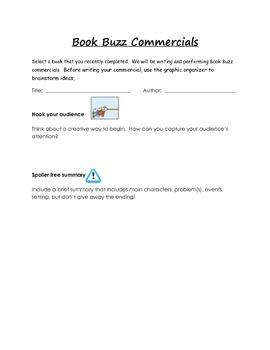 Book Buzz or Book Talk Commercials