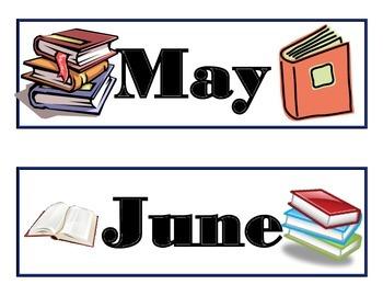 Book Calendar! Reading Bulletin Board! Books Reading Theme! Library Class!