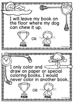 Book Care Activity and Coloring Book