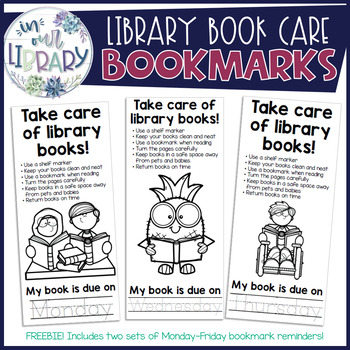 Book Care Bookmarks {FREEBIE!}