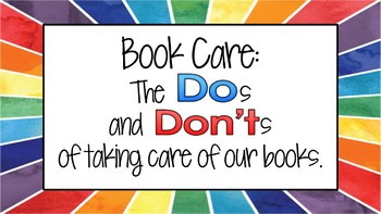 Book Care Bundle - Posters, Lesson, Games and More!