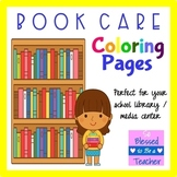 Book Care Coloring Pages for the Elementary School Media C