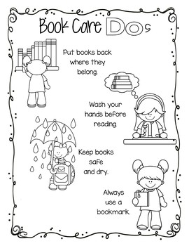 Book Care Lesson - Powerpoint, Bookmarks, Coloring Sheet