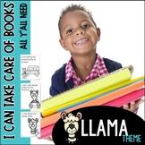 Book Care Llama Theme