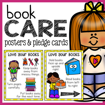 Book Care Skills Posters and Pledge Cards
